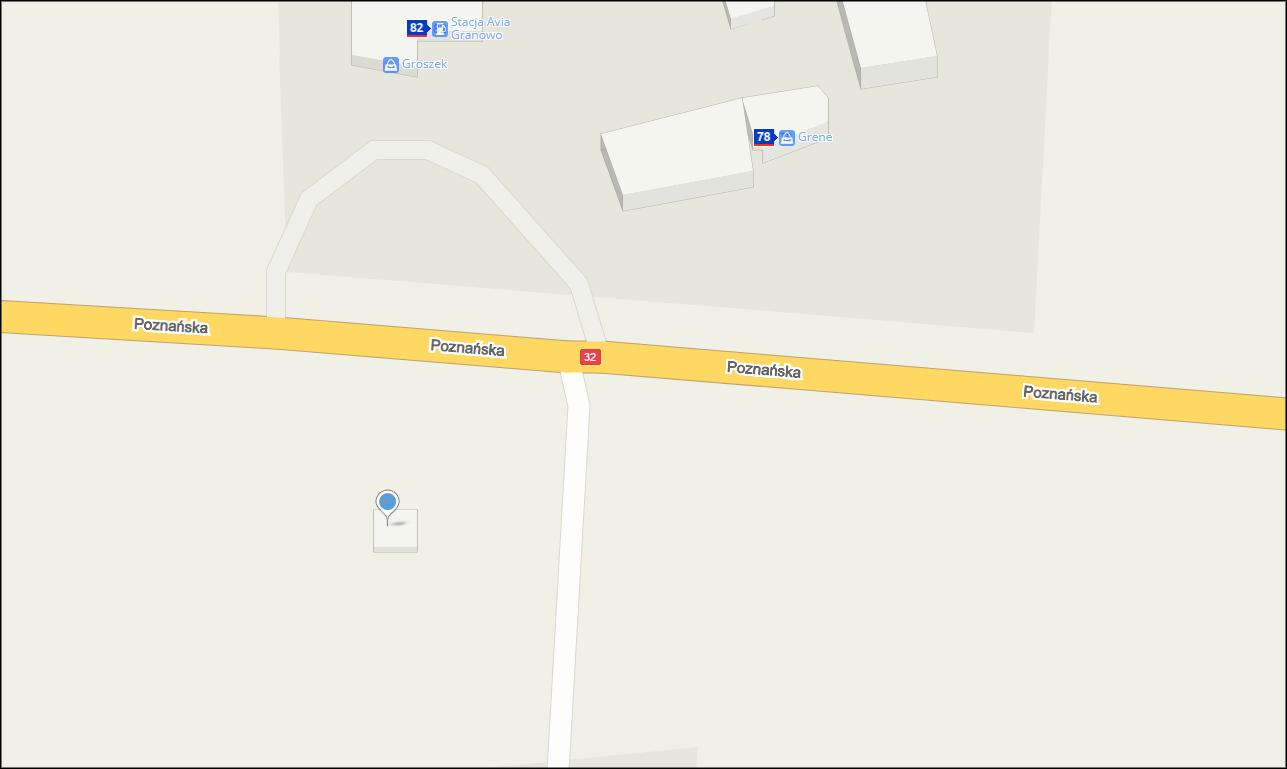 Granowo, Poznańska, 82, mapa Granowo